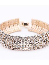 cheap -Women's Tennis Bracelet Layered Sweet Fashion Rhinestone Bracelet Jewelry Gold / Silver For Party Date
