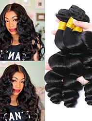 cheap -3 Bundles Indian Hair Wavy Human Hair Natural Color Hair Weaves / Hair Bulk Human Hair Extensions 8-28 inch Natural Color Human Hair Weaves Best Quality Hot Sale For Black Women Human Hair Extensions
