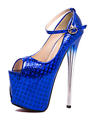 cheap -Women's Synthetics Spring &  Fall / Summer British / Minimalism Heels Stiletto Heel Peep Toe Sequin Gold / Fuchsia / Blue / Wedding / Party & Evening