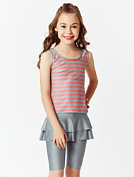 cheap -Kids Girls' Boho Sports Color Block Classic Style Half Sleeve Sleeveless Swimwear Blushing Pink
