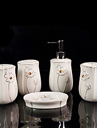 cheap -Bathroom Accessory Set  Design / Creative Ceramic 5pcs - Bathroom Single
