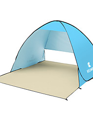 cheap -KEUMER 2 person Beach Tent Outdoor Lightweight UV Resistant Breathability Single Layered Camping Tent 1500-2000 mm for Fishing Beach Camping / Hiking / Caving Silver Tape 150*180*110 cm