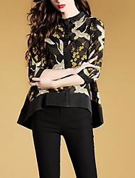 cheap -Women's Daily Shirt - Geometric Black