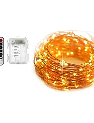 cheap -5m Light Sets String Lights 50 LEDs Warm White White Color-changing Waterproof Decorative Batteries Powered 1set