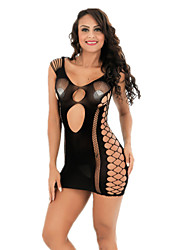cheap -Women's Cut Out / Mesh Suits Nightwear Jacquard Black One-Size