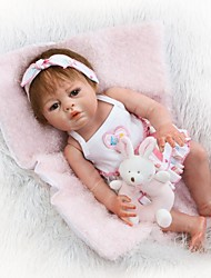 cheap -NPKCOLLECTION NPK DOLL Reborn Doll Girl Doll Baby Girl 22 inch Full Body Silicone Silicone Vinyl - Newborn Cute Child Safe Non Toxic Tipped and Sealed Nails Natural Skin Tone Kid's Girls' Toy Gift