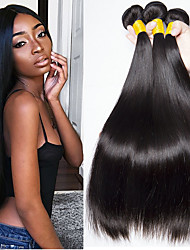 cheap -3 Bundles Brazilian Hair Straight Human Hair Natural Color Hair Weaves / Hair Bulk Human Hair Extensions 8-28 inch Natural Color Human Hair Weaves Fashionable Design Best Quality New Arrival Human