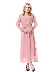 cheap -Women's Midi Maternity Blushing Pink Green Dress Spring Daily Work Swing Abaya Jalabiya Solid Colored M L