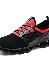 cheap -Women's Athletic Shoes Creepers Round Toe Leather Sporty / Casual Running Shoes / Walking Shoes Spring &  Fall Black / Black / Red / Black / Green