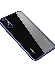 Недорогие -Кейс для Назначение Huawei Huawei P20 / Huawei P20 Pro / Huawei P20 lite Прозрачный Кейс на заднюю панель Однотонный Твердый Акрил