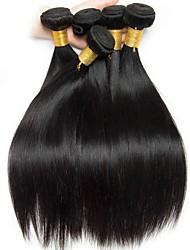 cheap -6 Bundles Peruvian Hair Straight 100% Remy Hair Weave Bundles Headpiece Natural Color Hair Weaves / Hair Bulk Bundle Hair 8-28 inch Natural Color Human Hair Weaves Odor Free Soft Silky Human Hair
