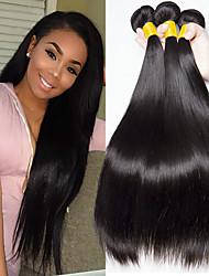 cheap -3 Bundles Brazilian Hair Straight Human Hair Natural Color Hair Weaves / Hair Bulk Human Hair Extensions 8-28 inch Natural Color Human Hair Weaves Fashionable Design Best Quality Hot Sale Human Hair