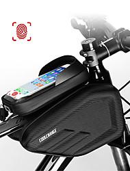 Недорогие -CoolChange Сотовый телефон сумка Бардачок на раму 6.0/6.2 дюймовый Сенсорный экран Водонепроницаемость Двойной IPouch Велоспорт для IPhone 7 iPhone 8 Plus / 7 Plus / 6S Plus / 6 Plus iPhone X Черный