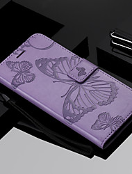cheap -Phone Case For Samsung Galaxy Full Body Case Leather Wallet Card S10 S10 + Galaxy S10 E Wallet Card Holder with Stand Butterfly Hard PU Leather