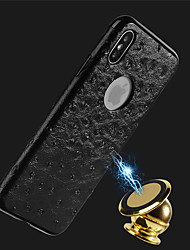 cheap -Case For Apple iPhone X / iPhone 8 Plus / iPhone 8 Embossed Back Cover Solid Colored Soft PU Leather