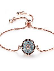 cheap -Women's Cubic Zirconia Chain Bracelet Sun Ladies Classic Vintage Fashion Copper Bracelet Jewelry Rose Gold For Party Gift