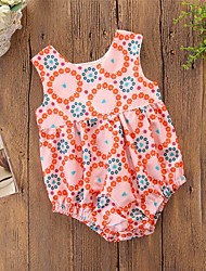 cheap -Baby Girls' Active / Basic Daily / Holiday Floral / Print Floral Style Sleeveless Bodysuit Orange / Toddler