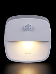 cheap -Smart Night Light Infrared Sensor Human Body Sensor AAA Batteries Powered 1pc