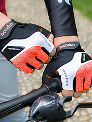 cheap -Bike Gloves / Cycling Gloves Mountain Bike Gloves Mountain Bike MTB Breathable Anti-Slip Shockproof Protective Fingerless Gloves Half Finger Sports Gloves Lycra Terry Cloth Black Grey Orange for