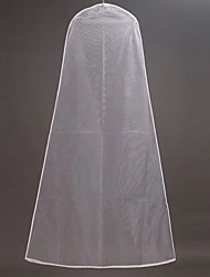 cheap -One-tier Modern Wedding Veil Garment Bags with Solid 70.87 in (180cm) Tulle / Straight Cut