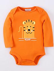 cheap -Baby Boys' Basic Daily Print Animal Pattern Long Sleeve Cotton Bodysuit Orange / Toddler