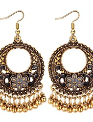 cheap -Women's Drop Earrings Long Ladies Asian Vintage Ethnic Fashion Earrings Jewelry Black / Red / Blue For Evening Party Birthday 1 Pair