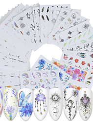 cheap -40 Sheets Nail Stickers Nail Art Water Transfer Stickers Eco-Friendly Watermark Stickers a Variety of Color Printing Trend Patternsr for DIY Nail Art Decorations