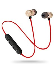 Недорогие -Litbest магнитный беспроводной шейный обод Bluetooth наушники стерео спортивные наушники беспроводные наушники-вкладыши с микрофоном регулятор громкости для iphone samsung