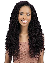 cheap -Faux Locs Curly Box Braids Black Synthetic Hair Braiding Hair 20 Roots / Pack 1 Piece / There are 20 roots per pack. Normally five to six packs are enough for a full head.
