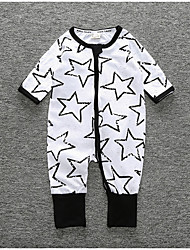 cheap -Baby Boys' Active Daily Print Short Sleeves Cotton Romper White