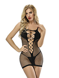 cheap -Women's Cut Out / Mesh Suits Nightwear Jacquard Black One-Size / Strap