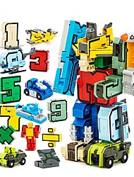 cheap -Building Blocks Educational Toy Construction Set Toys 15 pcs Robot Transformation Number Robot compatible A Grade ABS Plastic Legoing Creative Boys' Girls' Toy Gift / Kid's