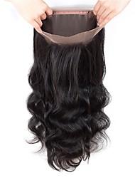 cheap -Fulgent  Sun Brazilian Hair 360 Frontal Wavy Free Part Swiss Lace Human Hair Women's Lace Closure Dailywear / Engagement / Daily
