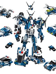 cheap -Building Blocks Construction Set Toys Educational Toy 577 pcs Car Robot Airplane compatible Legoing Transformable Boys' Girls' Toy Gift