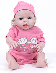 cheap -FeelWind Reborn Doll Girl Doll Baby Girl 20 inch Full Body Silicone - lifelike Hand Made Child Safe Non Toxic Parent-Child Interaction Hand Rooted Mohair Kid's Girls' Toy Gift