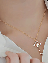 cheap -Women's Pendant Necklace Ladies Classic Vintage Fashion Alloy Gold Silver 46 cm Necklace Jewelry 1pc For Party Birthday
