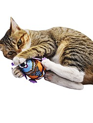 cheap -Catnip Plush Toy Squeaking Toy Interactive Cat Toys Fun Cat Toys Cat Pets 1 Piece Pet Friendly Animals Squeak / Squeaking Cartoon Toy Lovely Flannel Plush Gift Pet Toy Pet Play