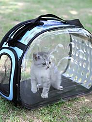 cheap -Dog Rabbits Cat Cages Carrier Bag & Travel Backpack Shoulder Messenger Bag Waterproof Camping & Hiking Travel Pet Plastic Footprint / Paw Lolita Fashion Black Yellow Green