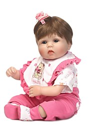 cheap -NPKCOLLECTION NPK DOLL Reborn Doll Baby Girl 18 inch Silicone - lifelike Gift Artificial Implantation Blue Eyes Kid's Girls' Toy Gift