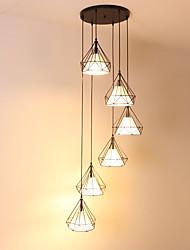 abordables -6 lumières Mini Lampe suspendue Lumière d'ambiance Finitions Peintes Métal Style mini, Etendu, Design nouveau 110-120V / 220-240V Ampoule non incluse / FCC / E26 / E27