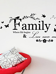 cheap -Decorative Wall Stickers - Words & Quotes Wall Stickers Characters Living Room / Bedroom / Bathroom