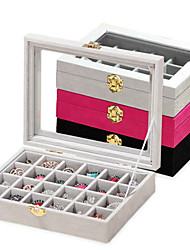 cheap -24 Piece Wood Women's Large Storage Jewelry Box