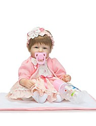 cheap -NPKCOLLECTION NPK DOLL Reborn Doll Baby 18 inch Silicone - Gift Creative Child Safe Non Toxic Artificial Implantation Blue Eyes Tipped and Sealed Nails Kid's Girls' Toy Gift