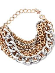 cheap -Women's Chain Bracelet Star Ladies Fashion Alloy Bracelet Jewelry Gold For Daily School