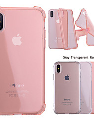 cheap -Case For Apple iPhone X / iPhone 8 Plus / iPhone 8 Shockproof / Transparent Back Cover Solid Colored Soft TPU