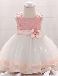 cheap -Baby Girls' Vintage Going out / Birthday Patchwork Sleeveless Knee-length Cotton Dress Blushing Pink