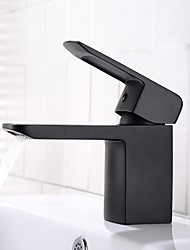 cheap -Bathroom Sink Faucet - Widespread / New Design Black Deck Mounted Single Handle One HoleBath Taps