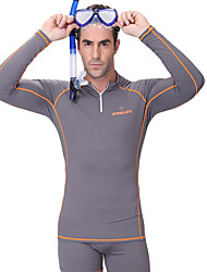 cheap -Dive&Sail Men's Rash Guard SPF50 UV Sun Protection Breathable Long Sleeve Diving Classic Summer / Anatomic Design / Stretchy / Quick Dry