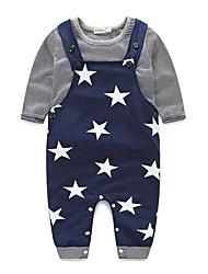 cheap -Baby Boys' Basic / Street chic Daily Geometric Long Sleeve Regular Cotton Clothing Set Black / Toddler