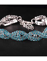 cheap -Women's Wrap Bracelet Layered Sweet Elegant Rhinestone Bracelet Jewelry White / Gold / Blue For Wedding Date